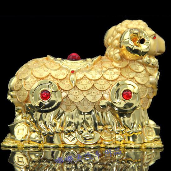 Tượng linh vật Dê dát vàng 081-02